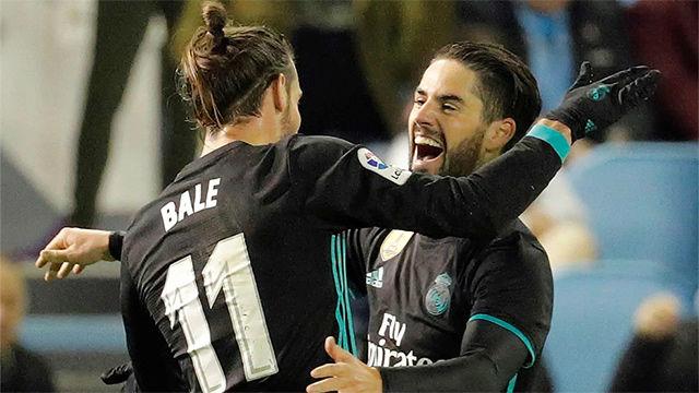 Bale celebra Isco LaLiga